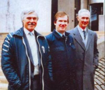 Roy Campbell (right to left), Charles Munn and Tony Slaven, 1980s