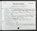Robert Silver's matriculation record, 1930