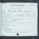 Alec Bache Walker, matriculation slip 1939-1940