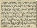 Irvine T Parker, Newspaper clipping